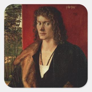Portrait of Oswolt Krel, 1499 Square Sticker