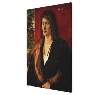 Portrait of Oswolt Krel, 1499 Stretched Canvas Prints