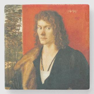 Portrait of Oswolt Krel by Albrecht Durer Stone Beverage Coaster