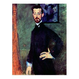 Portrait of Paul Alexanders by Modigliani Postcard
