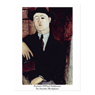 Portrait Of Paul Guillaume By Amedeo Modigliani Postcard