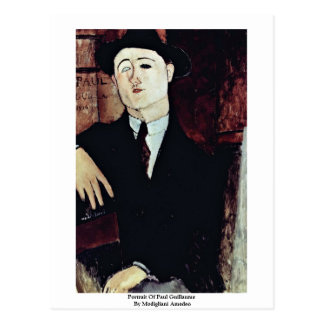 Portrait Of Paul Guillaume By Modigliani Amedeo Postcard