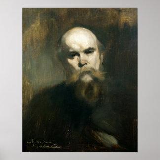 Portrait of Paul Verlaine  1890 Posters