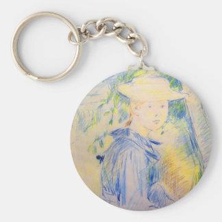 Portrait of Paule Gobillard by Berthe Morisot Key Chains