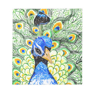 Portrait of Peacock Notepad