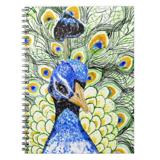 Portrait of Peacock Spiral Notebook