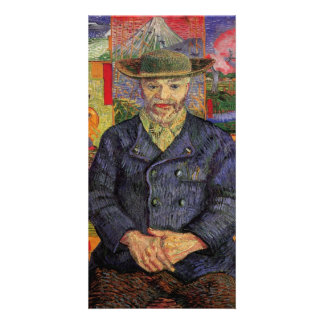 Portrait of Pere Tanguy by Vincent van Gogh Photo Card Template