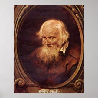 Portrait of Petrus de Morrion by Jan Lievens Poster