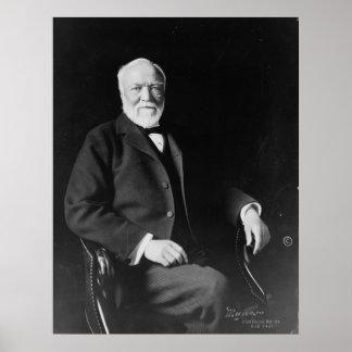 Portrait of Philanthropist Andrew Carnegie Print