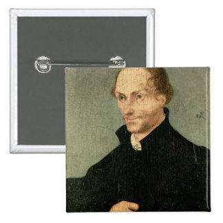Portrait of Philipp Melanchthon , 1532 15 Cm Square Badge