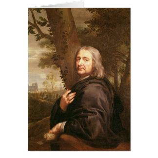 Portrait of Philippe de Champaigne, 1668 Card