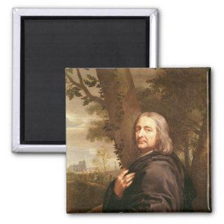 Portrait of Philippe de Champaigne, 1668 Square Magnet