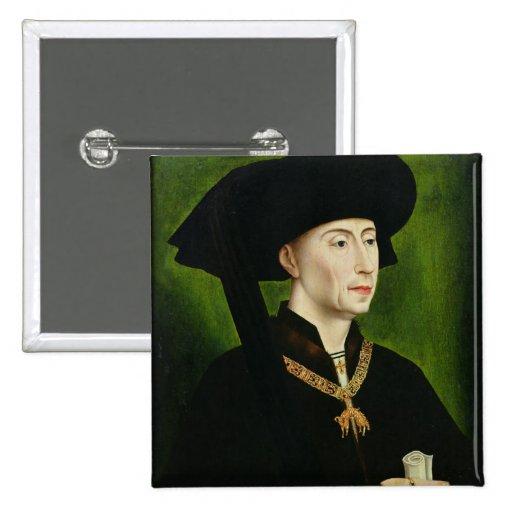 Portrait of Philippe le Bon  Duc de Bourgogne Pins