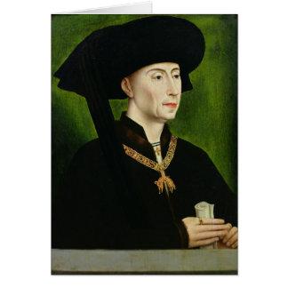Portrait of Philippe le Bon  Duc de Bourgogne Card