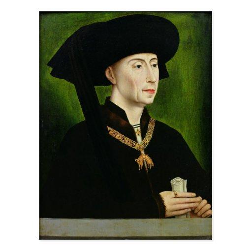 Portrait of Philippe le Bon  Duc de Bourgogne Post Cards
