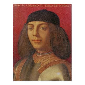 Portrait of Piero di Lorenzo de Medici Postcard