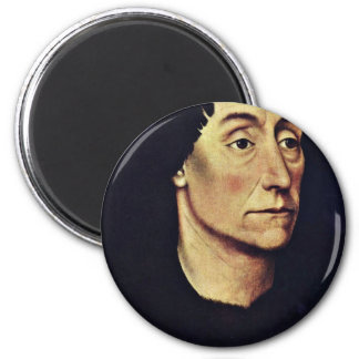 Portrait Of Pierre De Beffremont By Weyden Rogier Magnet