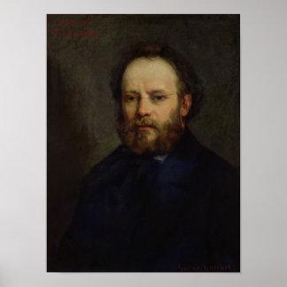 Portrait of Pierre Joseph Proudhon  1865 Poster