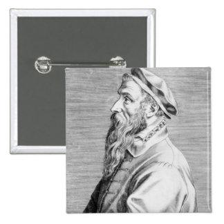 Portrait of Pieter Brueghel the Elder 15 Cm Square Badge