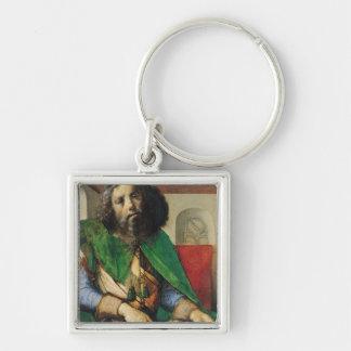 Portrait of Plato  c.1475 Silver-Colored Square Key Ring