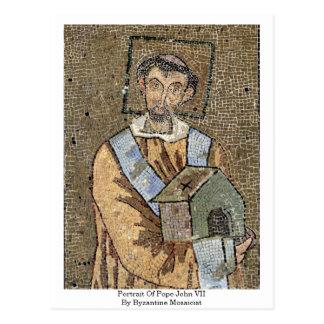 Portrait Of Pope John Vii By Byzantine Mosaicist Postcards