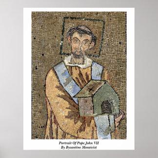 Portrait Of Pope John Vii By Byzantine Mosaicist Posters