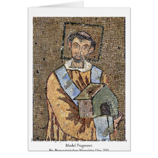Portrait Of Pope John Vii Cards