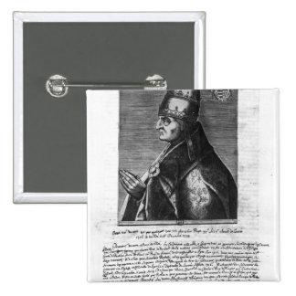 Portrait of Pope John XXII Pinback Buttons