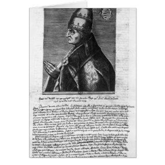 Portrait of Pope John XXII Card