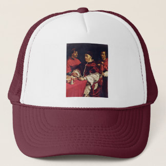 Portrait Of Pope Leo X With His Cousins By Raffael Trucker Hat
