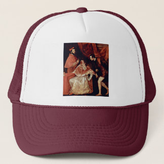 Portrait Of Pope Paul Iii, Cardinal Alessandro Far Trucker Hat