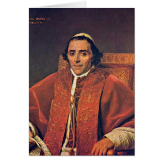 Portrait Of Pope Pius Vii By Jacques-Louis David Cards