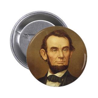Portrait of President Abraham Lincoln Button