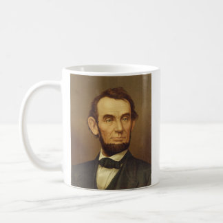 Portrait of President Abraham Lincoln Basic White Mug