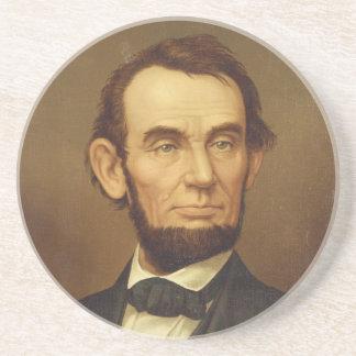 Portrait of President Abraham Lincoln Beverage Coaster