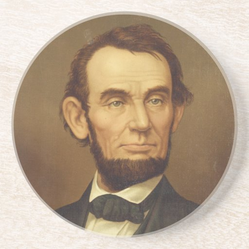 Portrait of President Abraham Lincoln Beverage Coaster