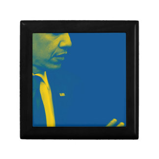Portrait of President Barack Obama 38d Small Square Gift Box