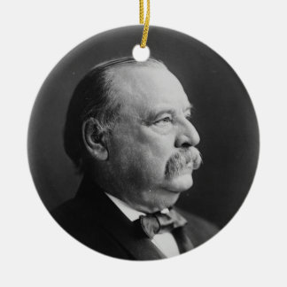 Portrait of President Stephen Grover Cleveland Ceramic Ornament