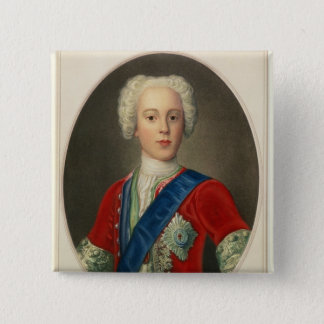 Portrait of Prince Charles Edward 15 Cm Square Badge