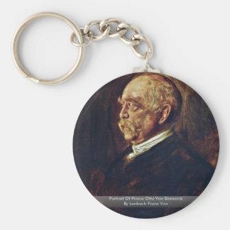 Portrait Of Prince Otto Von Bismarck Basic Round Button Key Ring
