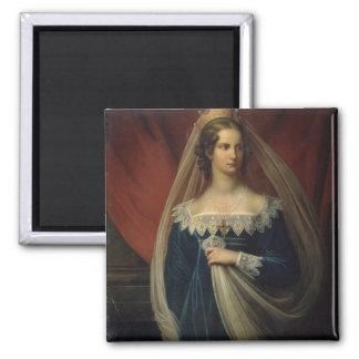 Portrait of Princess Charlotte von Preussen Square Magnet