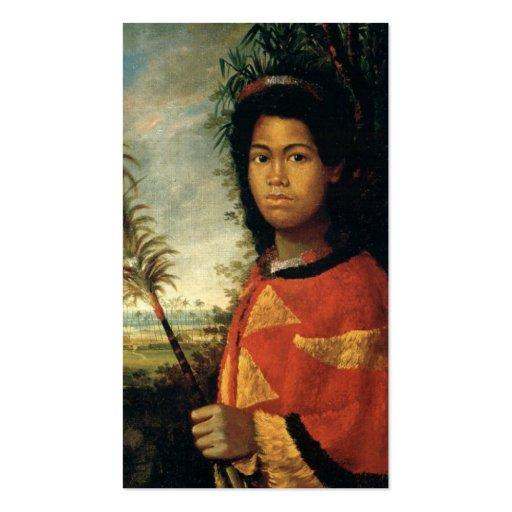 Portrait of Princess Nahiennaena of Hawaii Business Card Templates