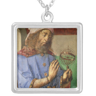Portrait of Ptolemy, c.1475 Silver Plated Necklace