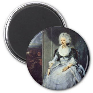 Portrait Of Queen Charlotte By Sir Thomas Refrigerator Magnet
