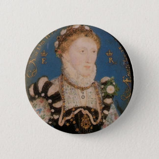 Portrait of Queen Elizabeth I, 1572 6 Cm Round Badge