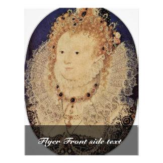 Portrait Of Queen Elizabeth I Of England Oval 21.5 Cm X 28 Cm Flyer