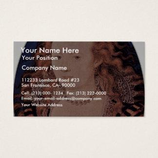 Portrait Of Queen Elizabeth Of Bohemia Oval Business Card