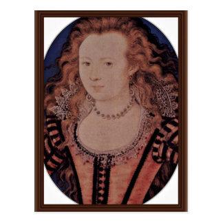 Portrait Of Queen Elizabeth Of Bohemia Oval Postcard