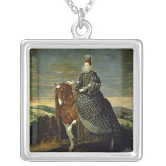 Portrait of Queen Margaret of Austria  1629-35 Silver Plated Necklace