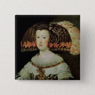 Portrait of Queen Maria Anna  of Spain 15 Cm Square Badge